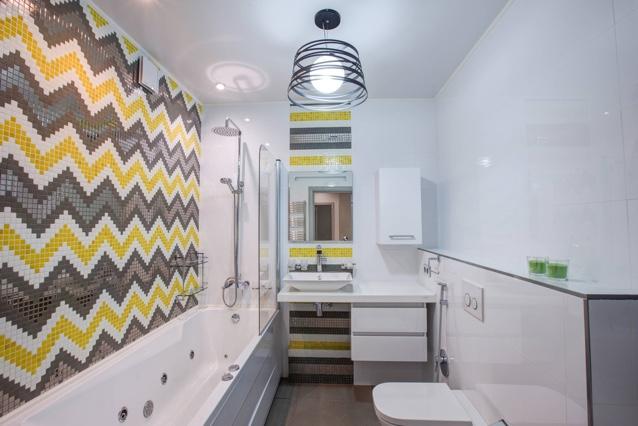 Пример маленькой ванной комнаты